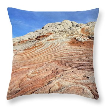 Solid Waves Pano Throw Pillow