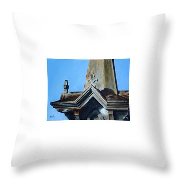 Throw Pillow featuring the painting Solitaire by William Brody