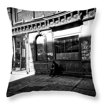 Throw Pillow featuring the photograph Solitary Man by Joan Reese