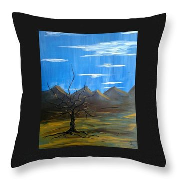 Throw Pillow featuring the painting Solo And Beautiful  by Aaron Bombalicki