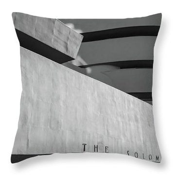 Throw Pillow featuring the photograph Solomon R Guggenheim Museum by Michael Hope