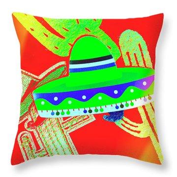 Sombrero Salsa Throw Pillow