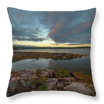 Somes Sound Sunset Throw Pillow