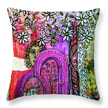 Something About Spring Throw Pillow