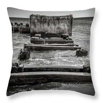 Throw Pillow featuring the photograph Something In The Water by Steve Stanger