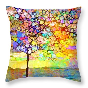 Sometimes We All Need A Little Colour Throw Pillow