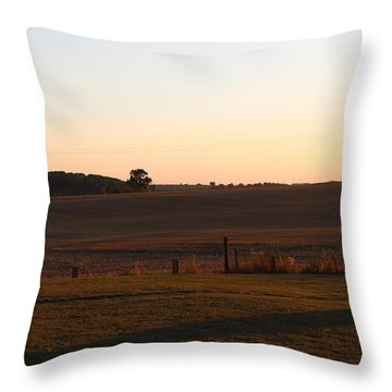Somme Sunset Throw Pillow