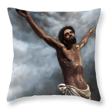 Throw Pillow featuring the digital art Son Of God by Dwayne Glapion