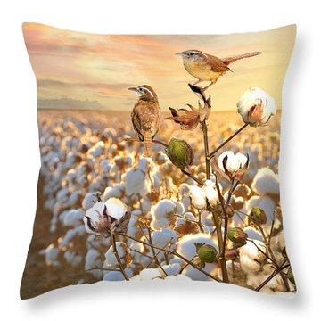 Song Of The Wren Throw Pillow