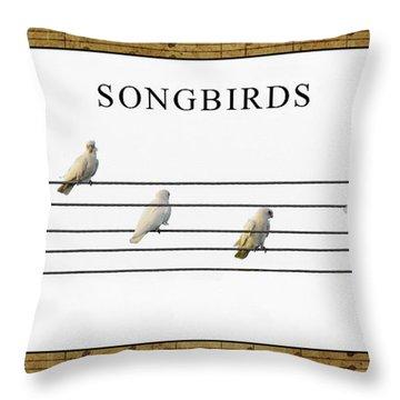 Songbirds Throw Pillow