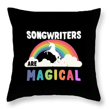 Throw Pillow featuring the digital art Songwriters Are Magical by Flippin Sweet Gear