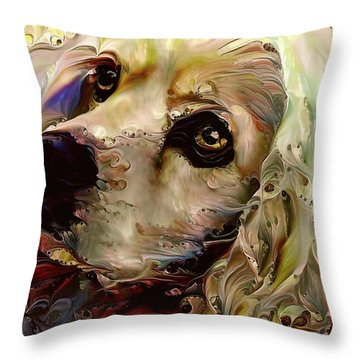Soulful Cocker Spaniel Throw Pillow
