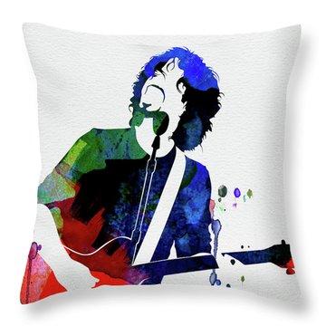 Soundgarden Watercolor Throw Pillow