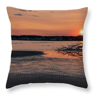 Soundview Sunset Throw Pillow