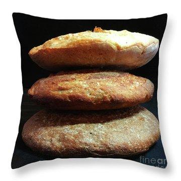 Sourdough Bread Stack 1 Throw Pillow
