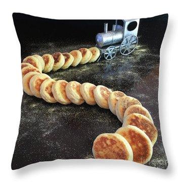 Sourdough English Muffins Throw Pillow