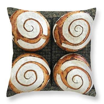 Sourdough Spirals X 4 Throw Pillow