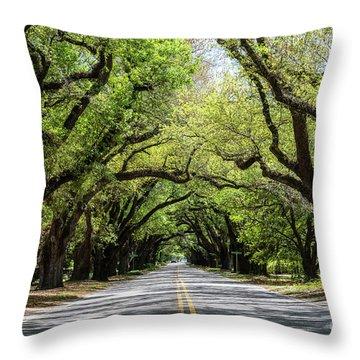 South Boundary Ave Aiken Sc Throw Pillow