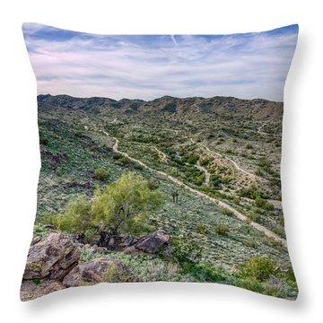 South Mountain Landscape Throw Pillow