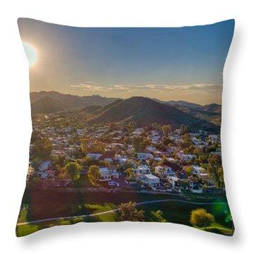South Mountain Sunset Throw Pillow