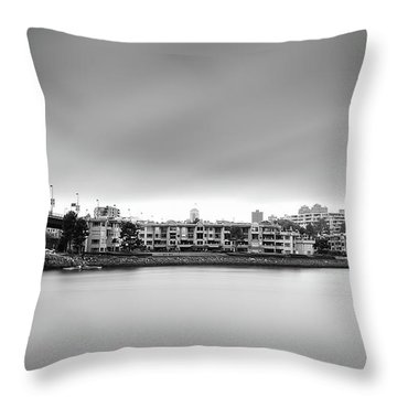 Venice Court, Vancouver Bc, Canada Throw Pillow