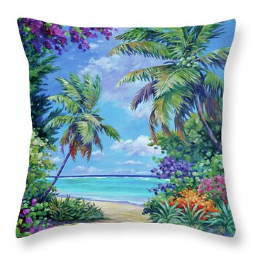 South Sound Colors Throw Pillow