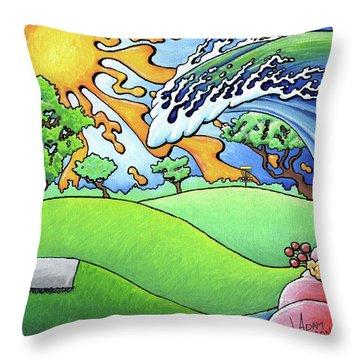 South Texas Disc Golf Throw Pillow