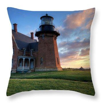 Southeast Light Sunrise Throw Pillow
