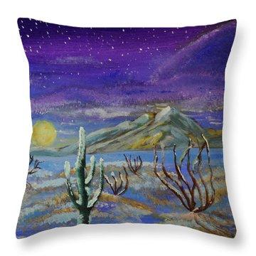 Southern Arizona Winter Magic  Throw Pillow