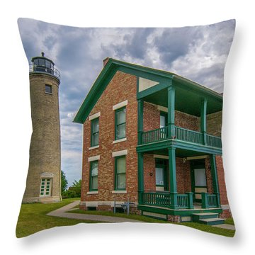 Southport Lighthouse  Throw Pillow