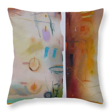 Throw Pillow featuring the drawing Southwestern Vista by Camille Rendal