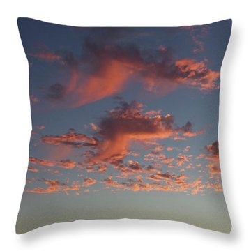 Space Needle And Pink Clouds Throw Pillow