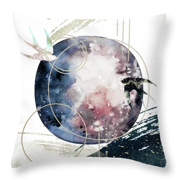 Throw Pillow featuring the digital art Space Operetta by Bee-Bee Deigner