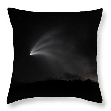 Space X Rocket Throw Pillow