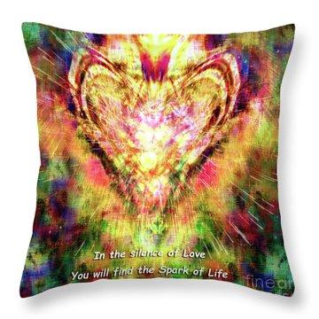 Throw Pillow featuring the digital art Spark Of Life by Atousa Raissyan