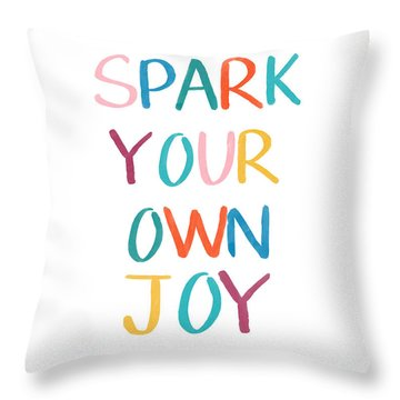 Spark Your Own Joy- Art By Linda Woods Throw Pillow