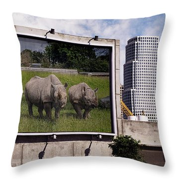 Speaking Of Billboards Throw Pillow