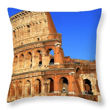Spectacular Colosseum Colors Throw Pillow