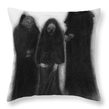 Specters Of The Darkness Beneath - Artwork Throw Pillow