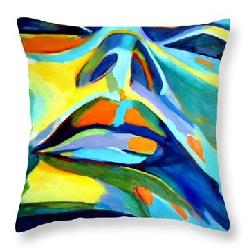 Speechless Yearning Throw Pillow