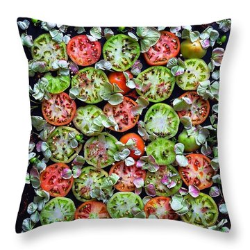 Spiced Tomatoes Throw Pillow