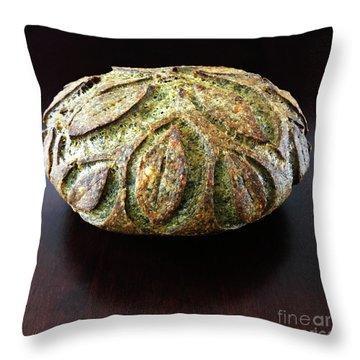 Spicy Spinach Sourdough 2 Throw Pillow