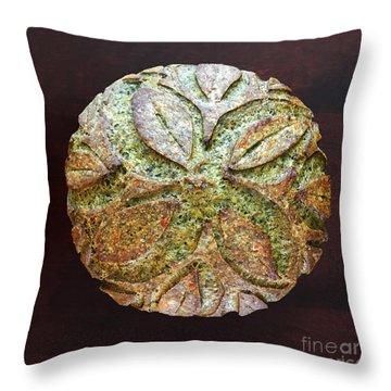 Spicy Spinach Sourdough Throw Pillow