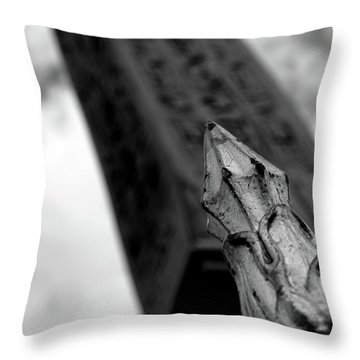 Throw Pillow featuring the photograph Spike by Edward Lee