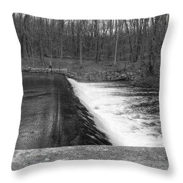 Spillway At Waterloo Village Throw Pillow