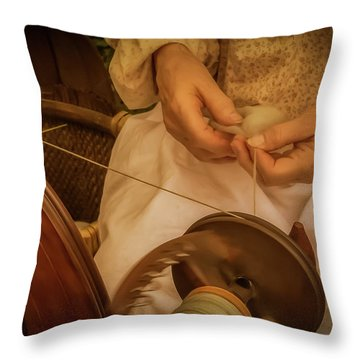 Throw Pillow featuring the photograph Spinner by Guy Whiteley