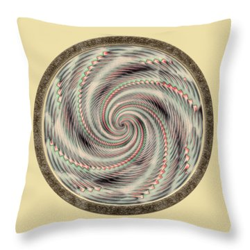 Throw Pillow featuring the photograph Spinning A Design For Decor And Clothing by John M Bailey