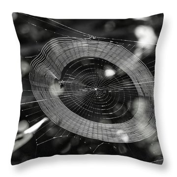 Spinning My Web Throw Pillow