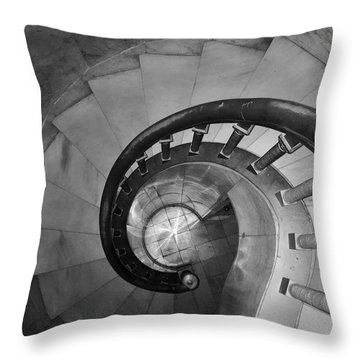 Spiral Staircase, Lakewood  Cemetary Chapel Throw Pillow