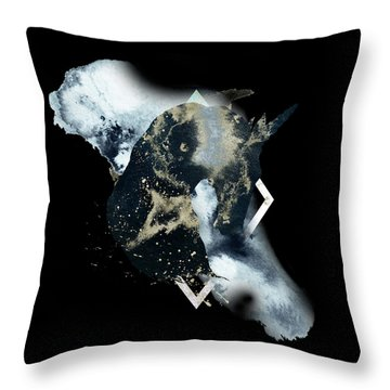 Throw Pillow featuring the digital art Spirit Animal by Bee-Bee Deigner